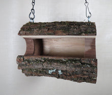 Bird Feeder, Walnut Log Bird Feeder, Large Size Bird Feeder, Hanging Bird Feeder