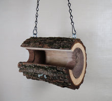 Bird feeder, birdfeeder, Walnut log bird feeder
