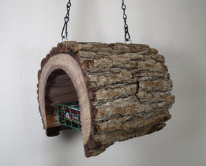 suet log bird feeder, Bird Feeder, Schoolhouse Woodcrafts