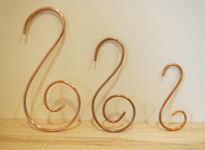 Hand made copper hooks, Schoolhouse Woodcrafts