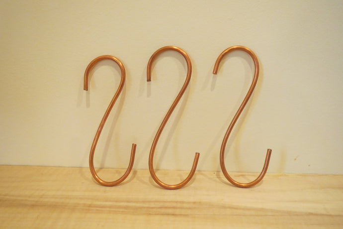 solid copper pot hooks