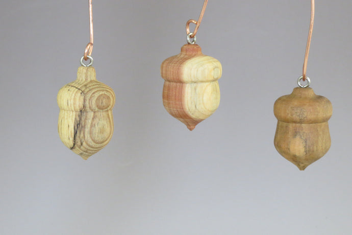 set of Three Acorn Ornaments, Elon University