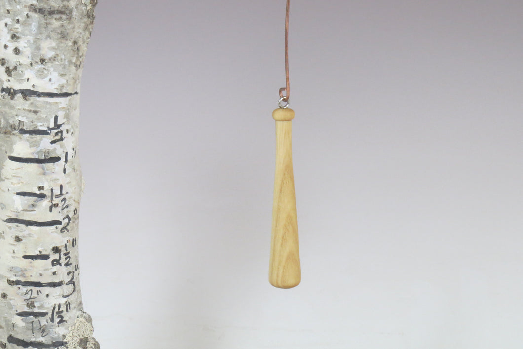baseball bat, turned baseball bat ornament