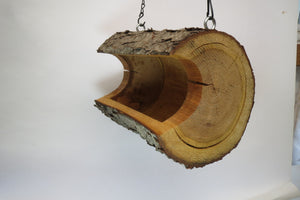 bird feeder,extra large log bird feeder, cherry log birdfeeder