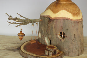 Fairy birdhouse ornament