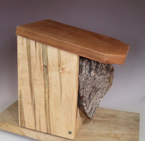 Bluebird House, Rustic Bluebird Birdhouse, Hand-made Bluebird Box, Wild Cherry & Ambrosia Maple with a Black Walnut Knot
