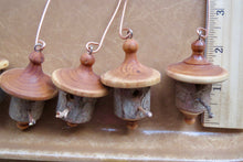 turned bark ornaments