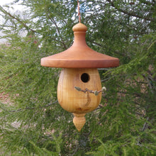 Turned Usable Birdhouse, Black Cherry and Ambrosia Maple