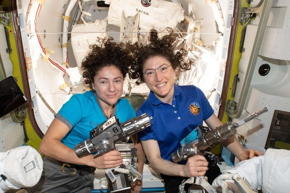 New collection - NASA Astronauts Christina and Jessica  - 1st ALL-WOMAN Walk in Space