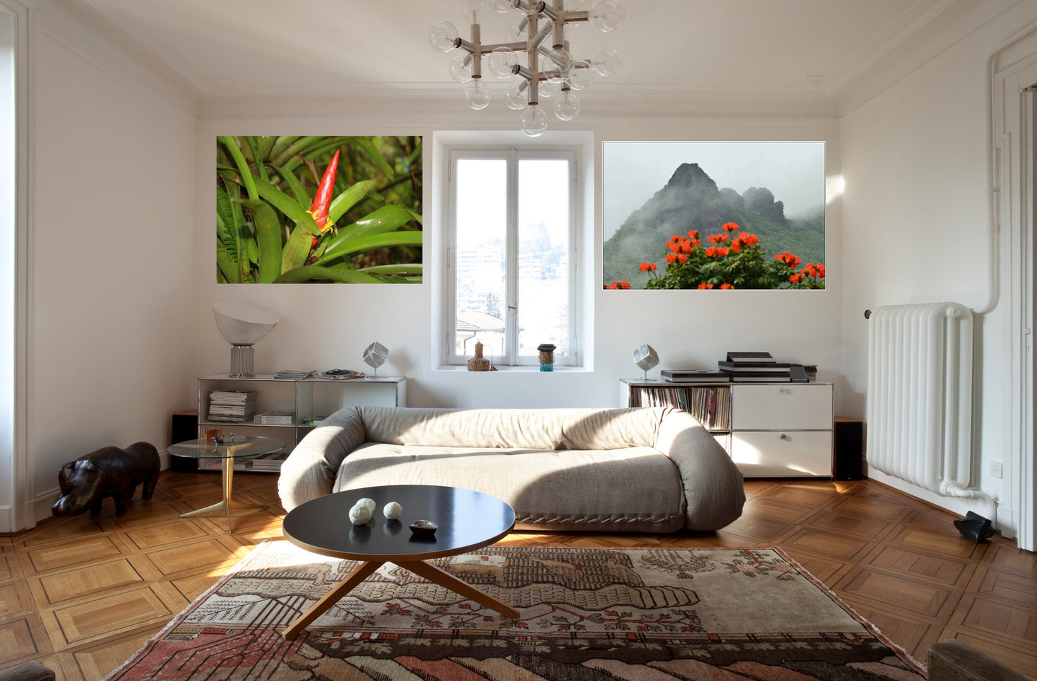 Canvas prints in room