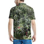 100% Pique - Men's All Over Print Polo Shirt - High Mountain Foliage - on way to Toro Negro Park Puerto Rico - Yunque Store