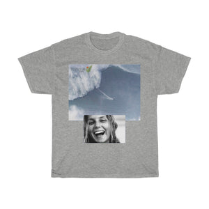 VIVA O BRASIL - Gildan 5000 - Deal $15 for Surfers & Brazilians - UNISEX Heavy Cotton Tee - Celebrating Brazilian Surfer MAYA GABEIRA - survived the largest wave ever by a Woman