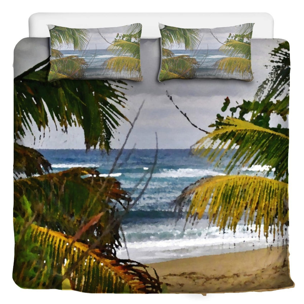 3 Pcs Beddings - Isabela beach and Arecibo beach Puerto Rico - awesome image combo 👍 - Yunque Store