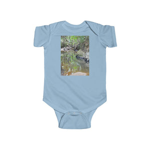 🐱‍🐉 A Steal for $16.99 - UK Print - 🛀 Infant Fine Jersey Cotton Bodysuit - El Yunque RainForest of Puerto Rico  - Holy Spirit River  Explorations
