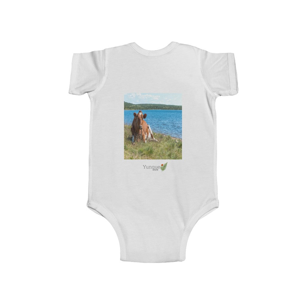 📢 A Steal for $16.99 - UK Print - 🛀 Infant Fine Jersey Cotton Bodysuit - Cows in Puerto Rico and Europe