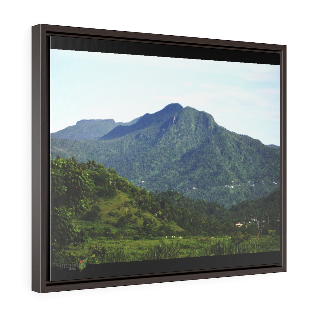 US Print:  Horizontal Framed Premium Gallery Wrap Canvas - Paradise in Puerto Rico - The East Peak range of El Yunque National Forest