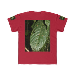 Kids Regular Fit Tee  - Jose on large tree and tropical leaf  - El Yunque rain forest PR