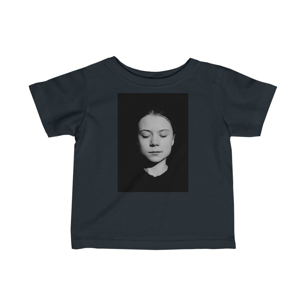 📢A Steal for $16.99 - UK Print - Infant Fine Cotton Jersey Tee - Greta Climate change activist/Child gets new shoes in WWII - Yunque Store