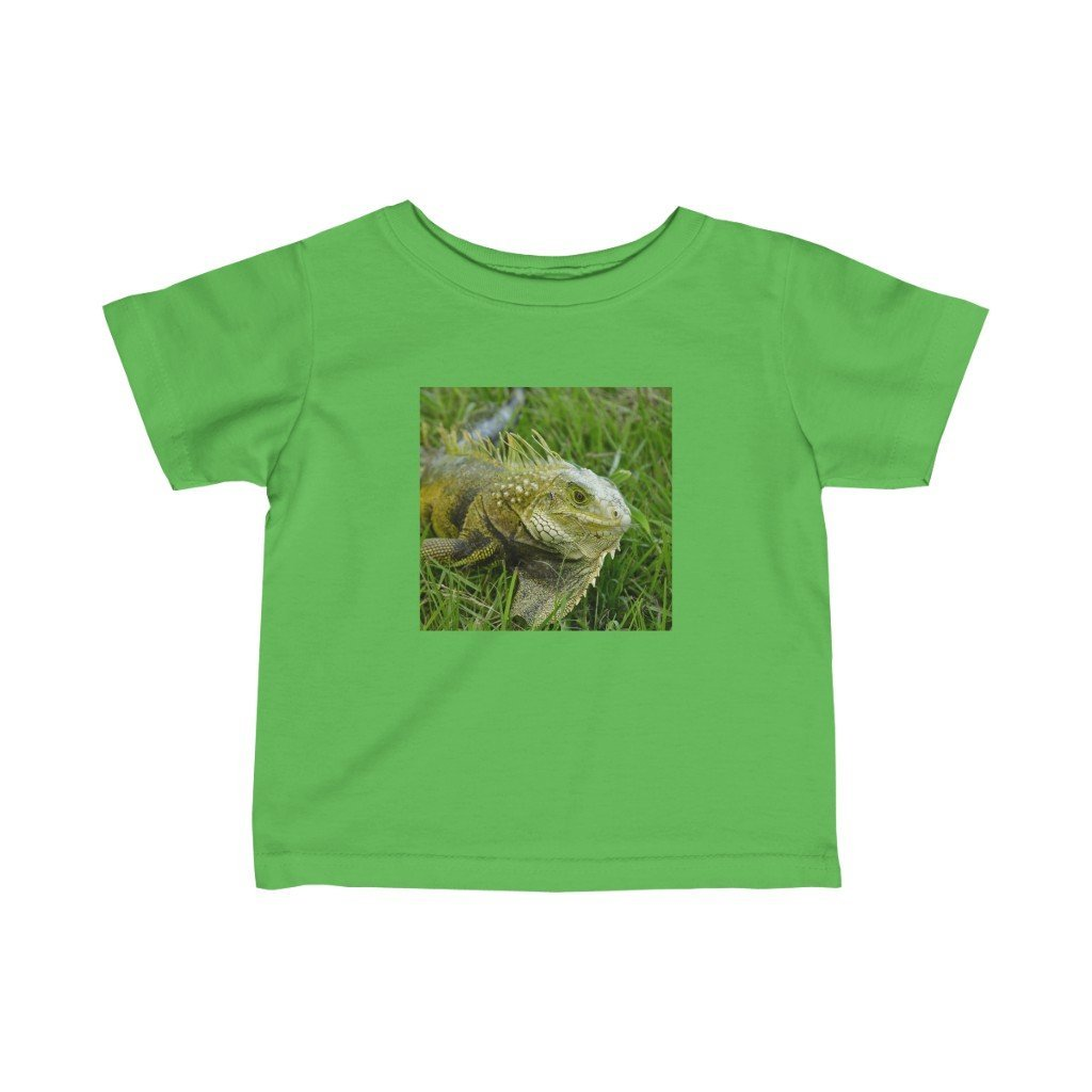 🐱‍🐉 A Steal for $16.99 - UK Print - Infant Fine Cotton Jersey Tee - Iguanas in Puerto Rico - Yunque Store