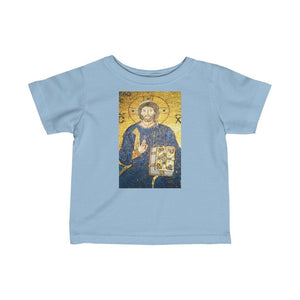😇 A Steal for $16.99 - UK Print - Infant Fine Cotton Jersey Tee - Jesus Blessings from Haggia Sofia istambul / Pope Francis Blesses a Baby - Yunque Store