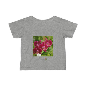 🌺 A Steal for $16.99 - UK Print - Infant Fine Cotton Jersey Tee - Tropical flowers from Puerto Rico - Yunque Store