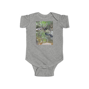 🐱‍🐉 A Steal for $16.99 - UK Print - 🛀 Infant Fine Jersey Cotton Bodysuit - El Yunque RainForest of Puerto Rico - Holy Spirit River Explorations - Yunque Store