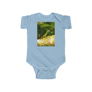 🐱‍🐉 A Steal for $16.99 - UK Print - 🛀 Infant Fine Jersey Cotton Bodysuit - El Yunque RainForest of Puerto Rico - Lizards and Ancient Fern Palms - Yunque Store
