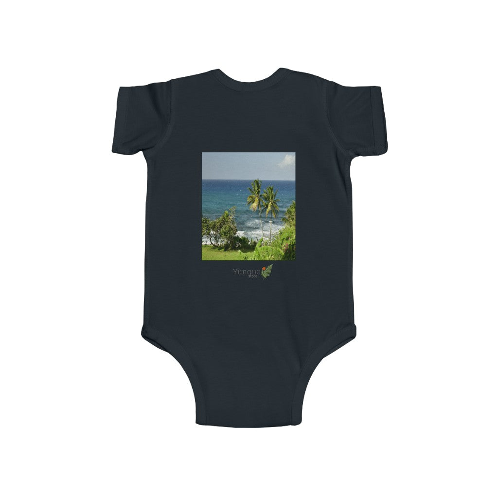 📢 A Steal for $16.99 - UK Print - 🛀 Infant Fine Jersey Cotton Bodysuit - Beautiful Tropical 🌴🐸🌴 Beaches of Puerto Rico
