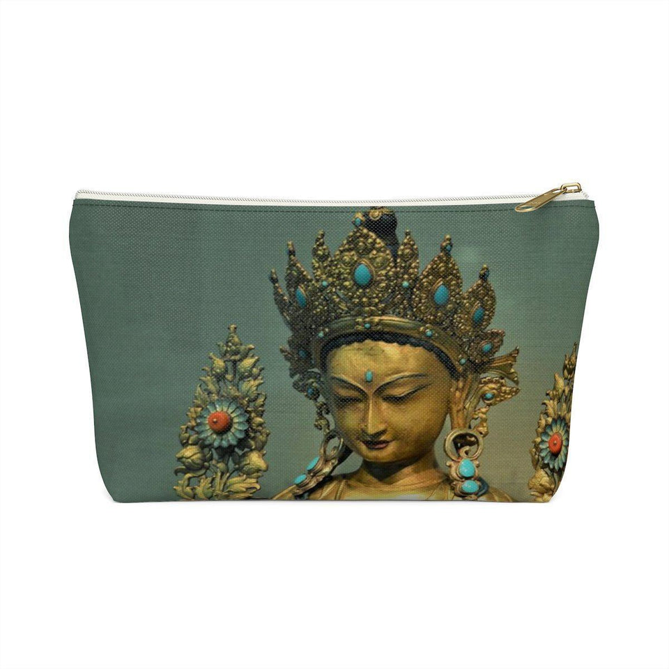 Accessory Pouch w T-bottom - The Goddes Tara of Infinite and deep Compassion and Wisdom Bags Printify