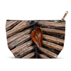Accessory Pouches - Dry leaf from Sierra Palm and leaf from Tradewinds canopy - El Yunque PR pouch AwsomeRainForest@Home