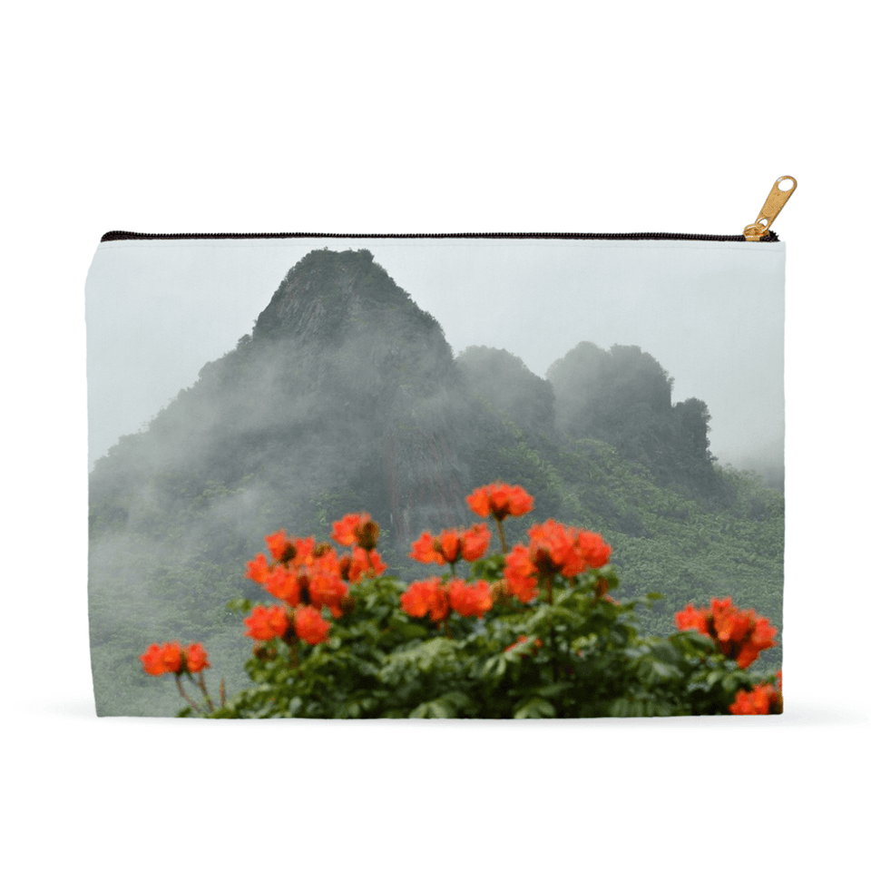 Accessory Pouches - View at 1k feet alt. from Yokahu tower after storm - El Yunque rain forest PR pouch AwsomeRainForest@Home