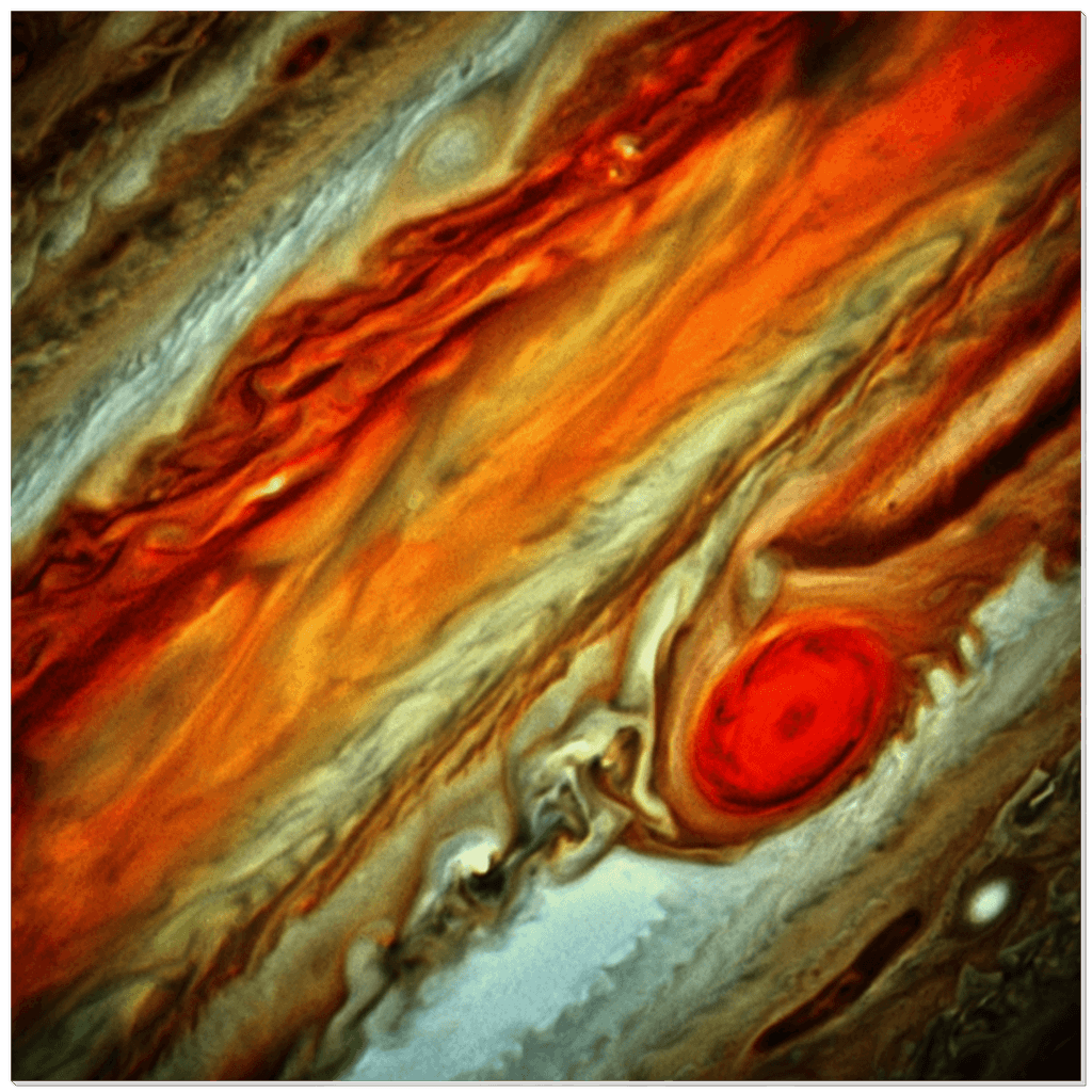 Acrylic Prints - The Hubble telescope image of Jupiter's RED spot zone in focus - Yunque Store