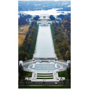Acrylic Prints - WA DC American PRIDE - View from Washington Monument at 555 feet of the WW II and Lincoln Memorials - Yunque Store