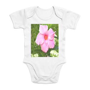 Affordable $15 - ORGANIC BABY BODYSUIT - Natural Images for an Intelligent Baby - Amapola flower - Puerto Rico - Yunque Store