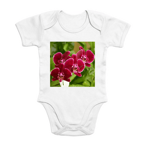 Affordable $15 - ORGANIC BABY BODYSUIT - Natural Images for an Intelligent Baby - Orchids in Isabela - Puerto Rico - Yunque Store