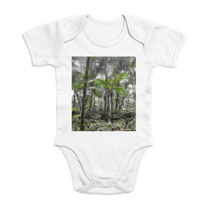 Affordable $15 - ORGANIC BABY BODYSUIT - Natural Images for an Intelligent Baby - Sierra Palm Cloud Forest - El Yunque rainforest Puerto Rico - Yunque Store