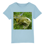 Affordable $19 - CHILD T-SHIRT - 100 % ORGANIC COTTON - Angry Iguana waits to run away - Puerto Rico - Yunque Store