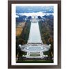 Affordable Framed Prints - WA DC American PRIDE - View from Washington Monument at 555 feet of the WW II and Lincoln Memorials - Yunque Store