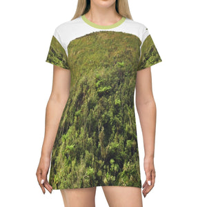 All Over Print T-Shirt Dress - Deforestation very close to Cerro Punta - Toro Negro PR - Yunque Store