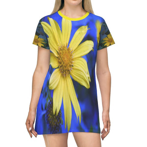 All Over Print T-Shirt Dress - Tropical flowers in Naguabo PR - Yunque Store