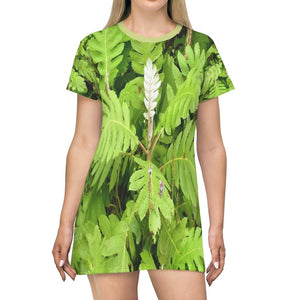 All Over Print T-Shirt Dress - Tropical plants of the highlands - Toro Negro PR - Yunque Store