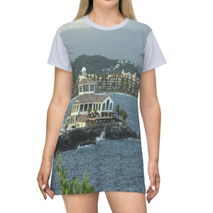 AOP T-shirt Dress - Awesome Palmas del Mar - Humacao - PR - Yunque Store