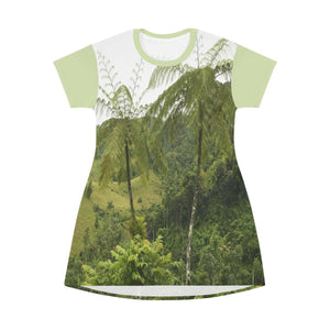 AOP T-shirt Dress - Awesome Patillas high mountains - Puerto Rico All Over Prints Printify