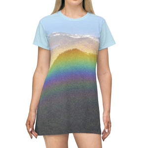 AOP T-shirt Dress - Awesome rainbow from 3K yunque peak - El Yunque rainforest - Puerto Rico - Yunque Store