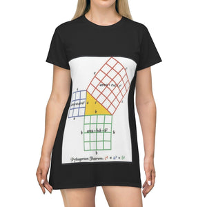 AOP T-shirt Dress - Basic math review - proof of Pythagoras and theorem and the Unit Circle - The Math Universe - Tech History All Over Prints Printify