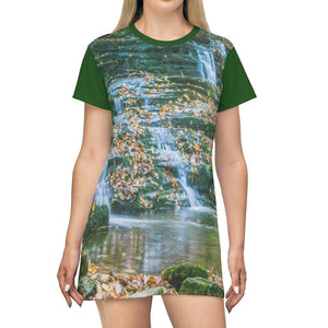 AOP T-shirt Dress - Celebrating the Great Smoky Mountain National Park - Yunque Store
