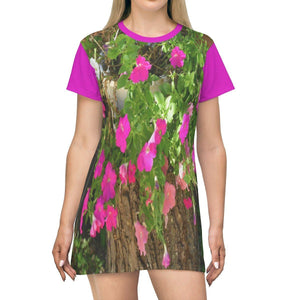 AOP T-shirt Dress - Decorative plant in garden - Isabela - Puerto Rico All Over Prints Printify