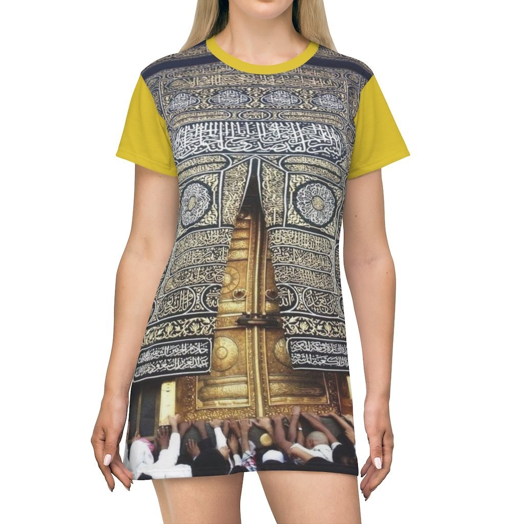 AOP T-shirt Dress - Door of main temple in The Great Mosque - Mecca - UAE - Islam - Yunque Store