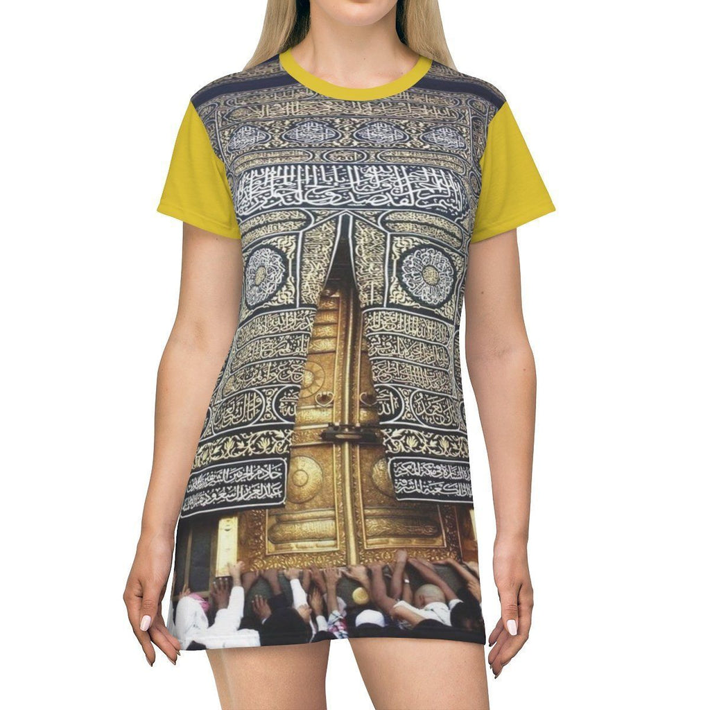 AOP T-shirt Dress - Door of main temple in The Great Mosque - Mecca - UAE - Islam All Over Prints Printify