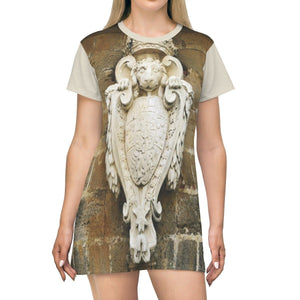 AOP T-shirt Dress - El Morro - a Spanish fortress in Old San Juan - Puerto Rico All Over Prints Printify